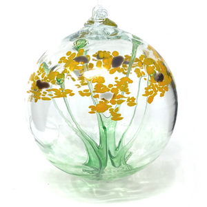 Blossom Ball Glass Ornament 6""