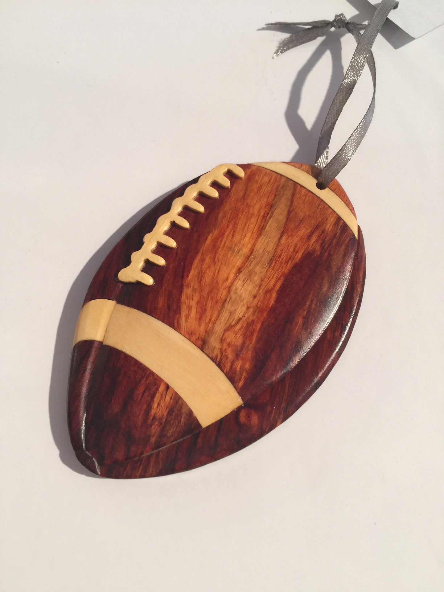 Football Wooden Ornament