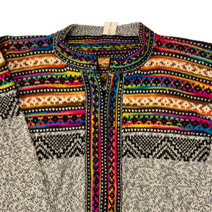 Ecuadorian Rainbow Zip-Up Sweater