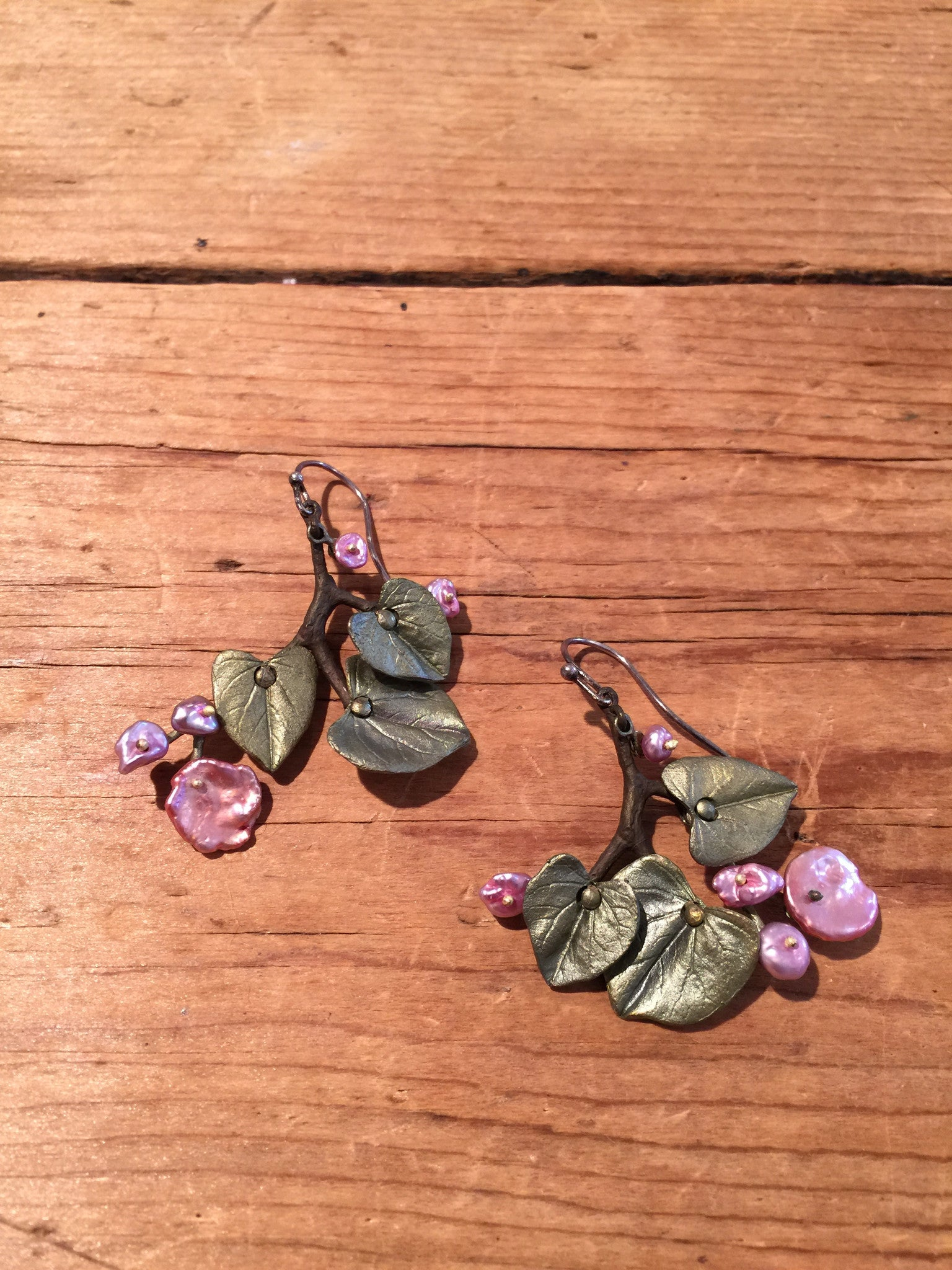 Redbud Flower Earrings