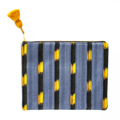 Gray Ikat Clutch