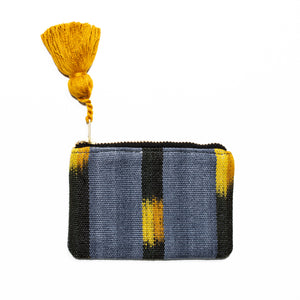 Gray Ikat Coin Pouch