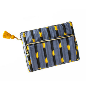 Gray Ikat Laptop Case
