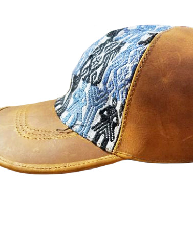 02ac6401157 Leather Baseball Hat with Textile Insert - AlterNatives