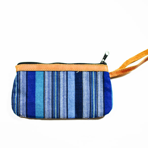 Vertical Pattern Leatherband Wristlet