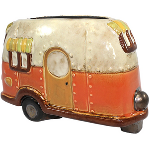 Travel Camper Ceramic Plant Pot