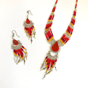 Peruvian Stone and beaded Set