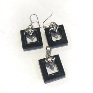 Square Onyx Earrings