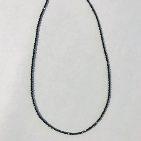 Grey Faceted Diamond strand Necklace