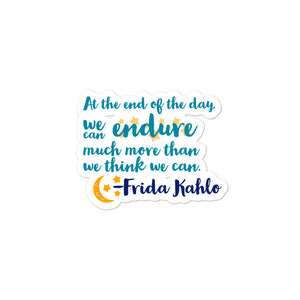 Frida Quote Sticker