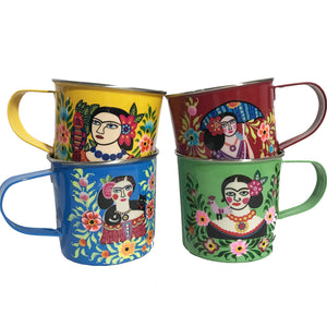 Hand-painted Colorful Frida Mugs