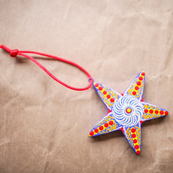 Ceramic Star Assorted Color Ornament