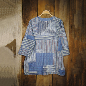 Stripped Patchwork Kurti