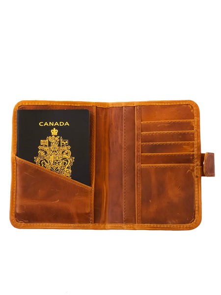 Porta Pasaporte Leather Wallet