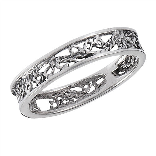 Thin Filigree Band Ring