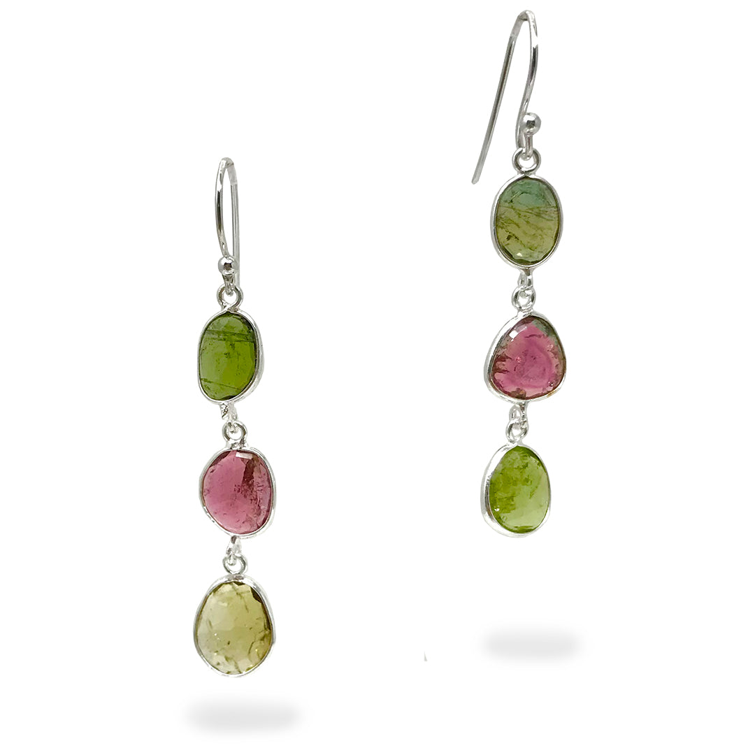 Colors of Tourmaline Earrings