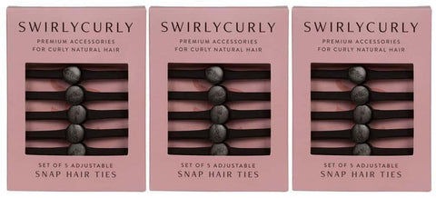 *Three Packs of Snappee™ Hair Tie 5 Pack*