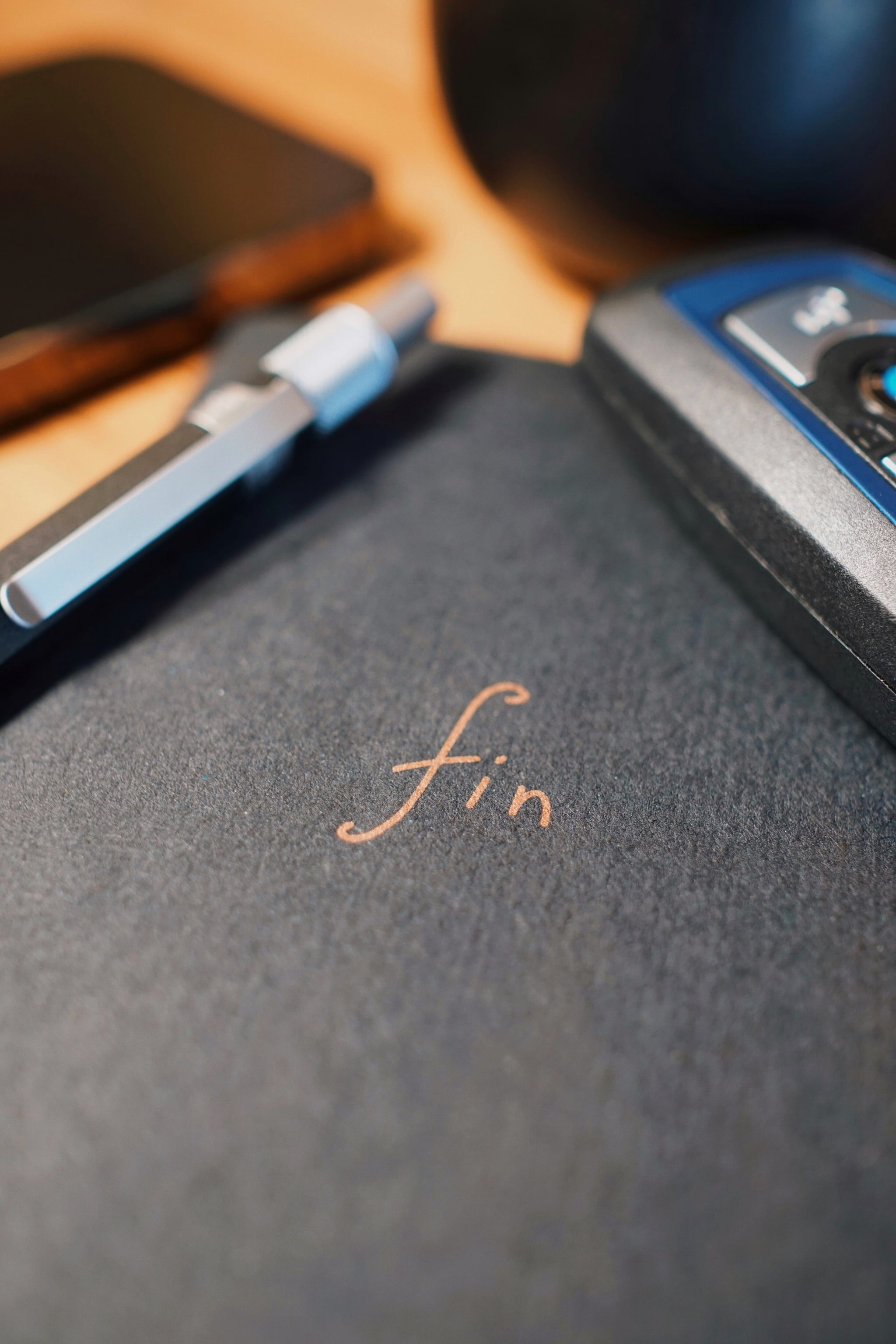 Fin productivity journal notebook