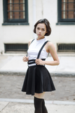 Caged Suspender Skirt