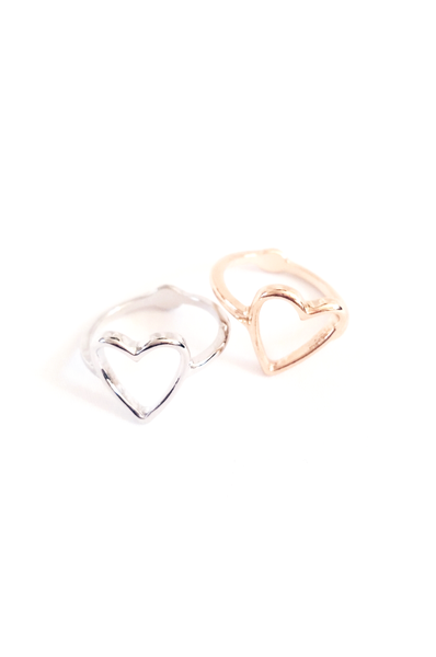 Contoured Heart Ring