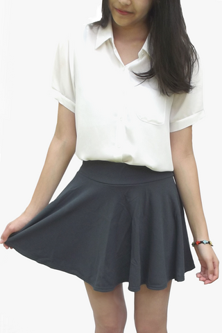 Gray Twirly Skirt