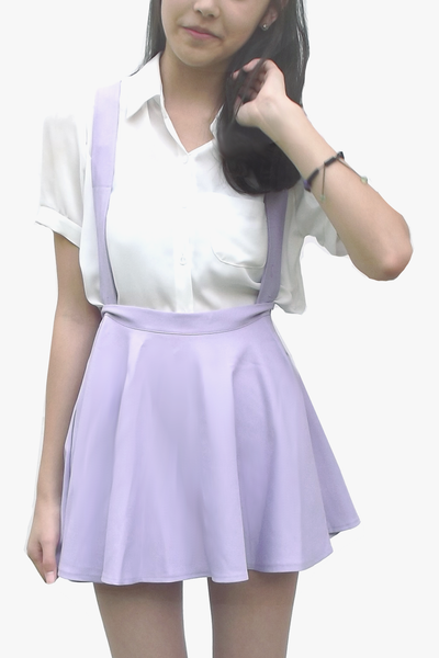 Pastel Purple Suspender Skirt