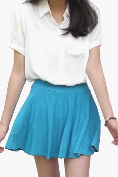 Sky Blue Twirly Skirt