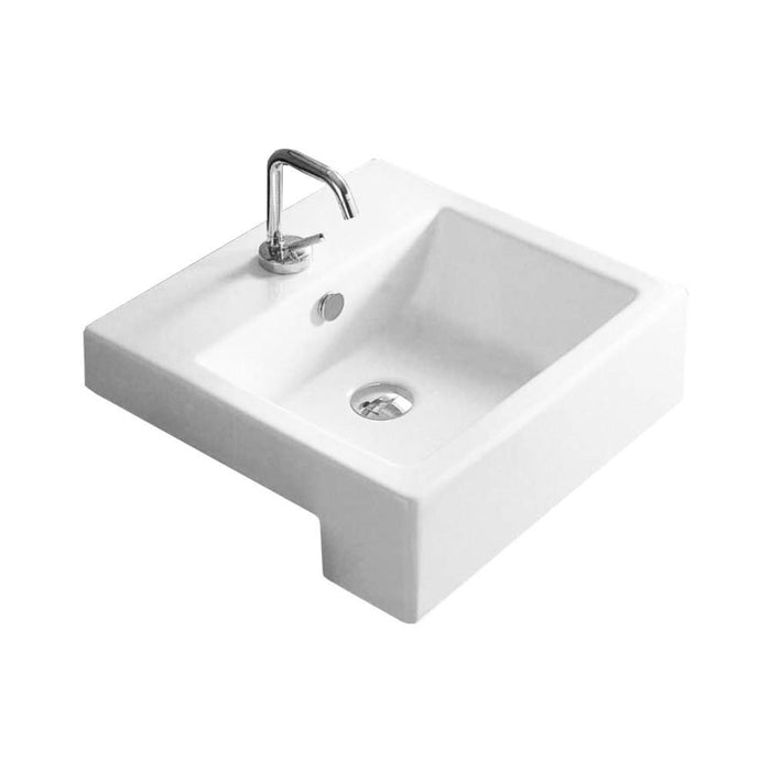 City Semi-Recessed Wash Basin