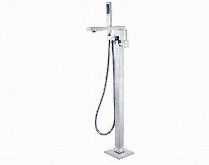 Jet Floor Mixer with Shower Head (Chrome)