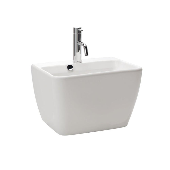 Emma Square Wall Basin Integrated Pedestal
