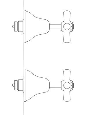 Cascade Top Assembly Wall Pair, Lever Diagram