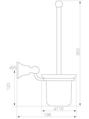 Cascade Toilet Brush Holder Diagram
