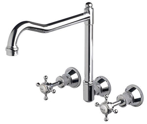 Bastow Victorian English Style Wall Set With Swivel (Chrome)