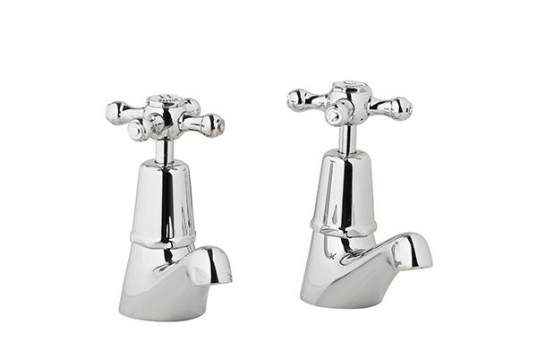 Bastow Georgian Pillar Taps (Chrome)