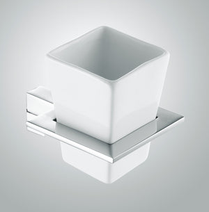 Jet Tumbler Holder White/Chrome
