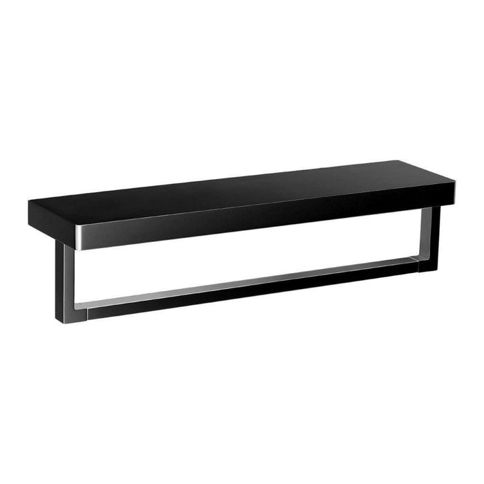 Eneo Shelf with Towel Rail (Matte Black)