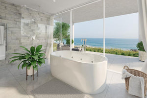 Decina Elisi Freestanding Contour Spa Bath in a Luxury Bathroom