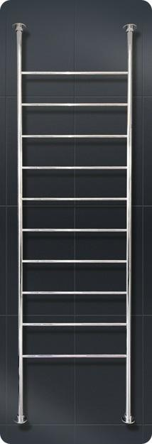 Radiant Floor to Ceiling Heated Towel Rail 600x24000 (Chrome)