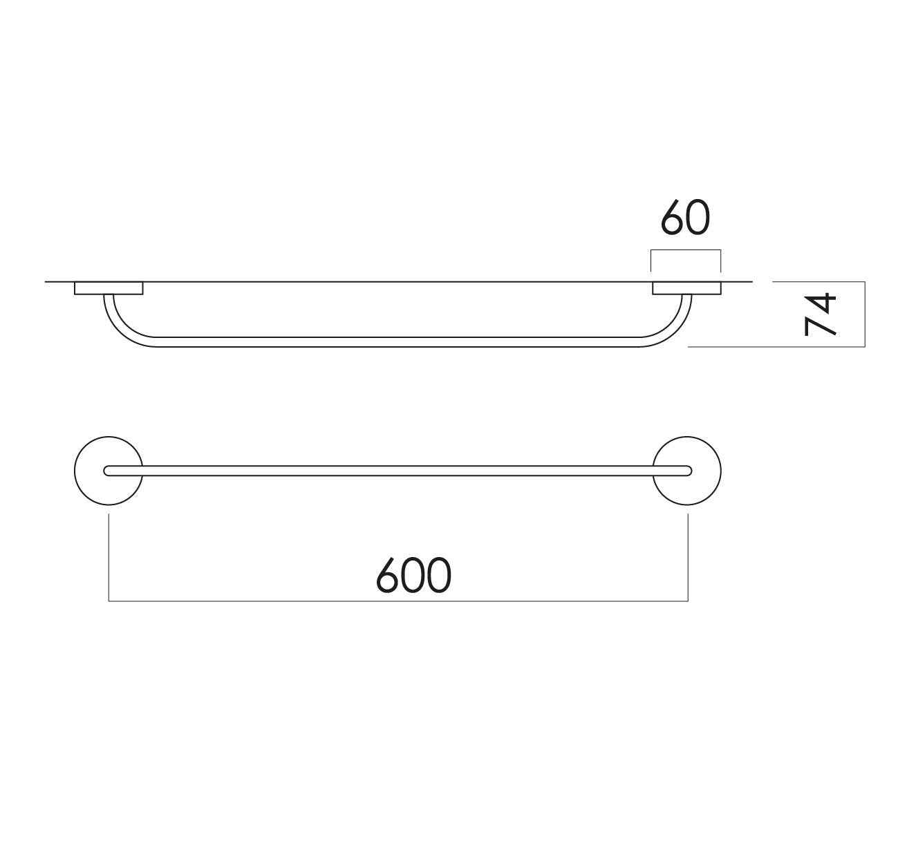 Festival Single Towel Rail 600mm Chrome Online Bathroomware Warmer Wiring Diagram