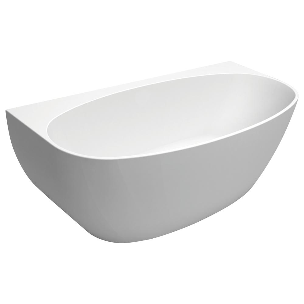 Fienza Keeto Back-to-Wall Acrylic Bath