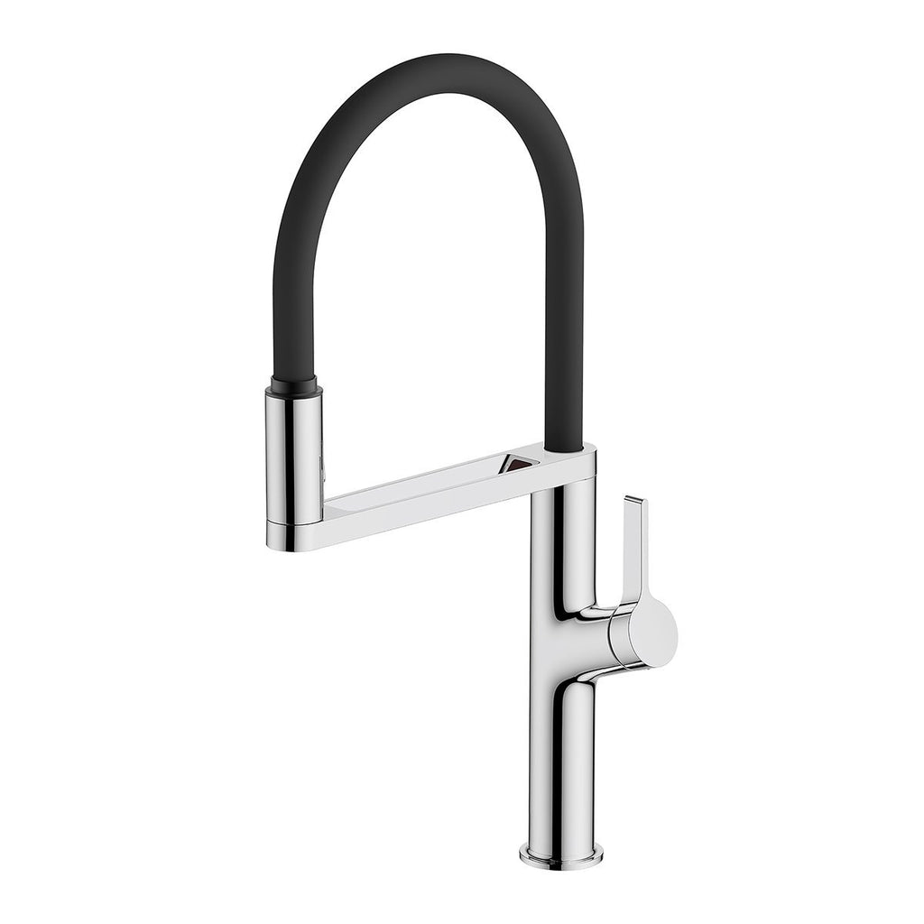 Galaxy Sensor Kitchen Mixer (Chrome with black hose)