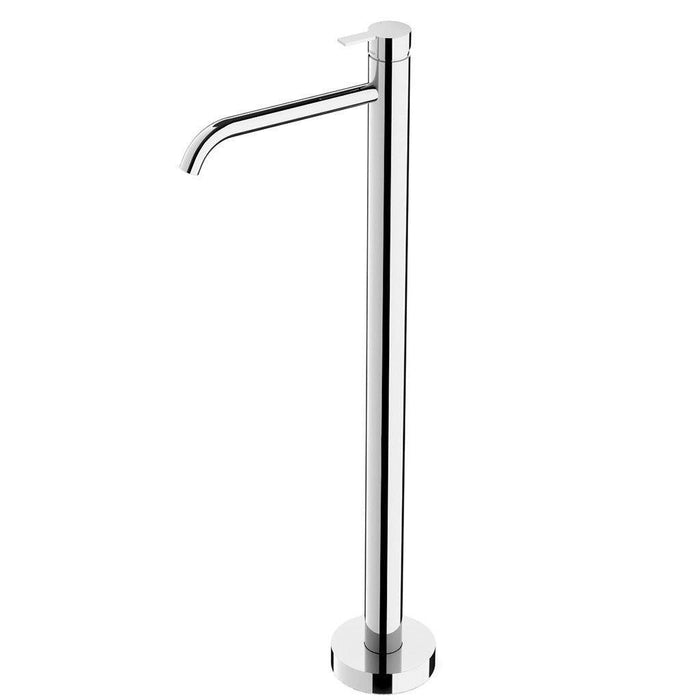 Lexi Floor Mounted Bath Mixer Curved Outlet (Chrome)