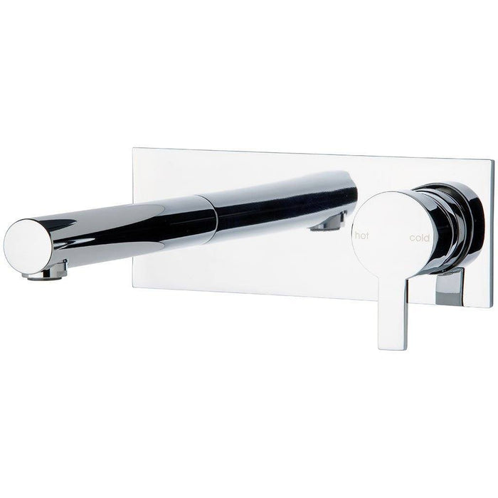 Lexi Wall Basin Set with 210mm Outlet (Chrome)