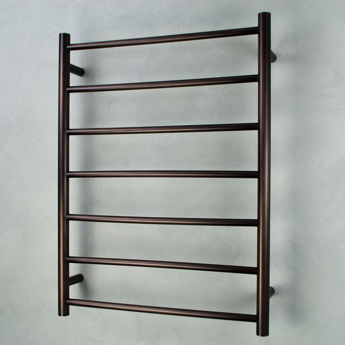 Radiant Heated Towel Rail Round 600x800 (Oil Rubbed Bronze)