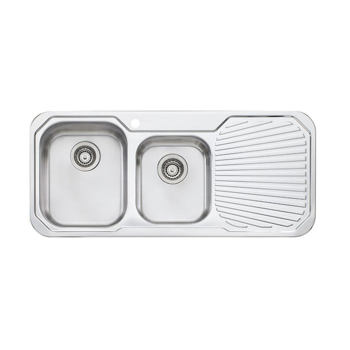 Petite 1 & 3/4 Bowl Topmount Sink with Drainer