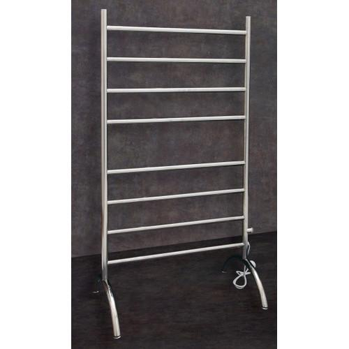 Thermorail Free Standing Heated Towel Rail Round 8 Bar with Plug