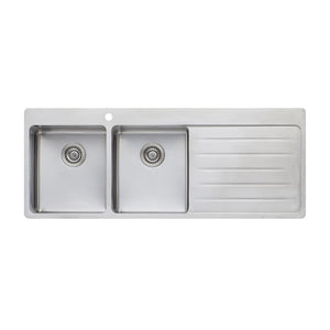 Oliveri Sonetto Double Bowl Topmount Sink with Drainer SN1071