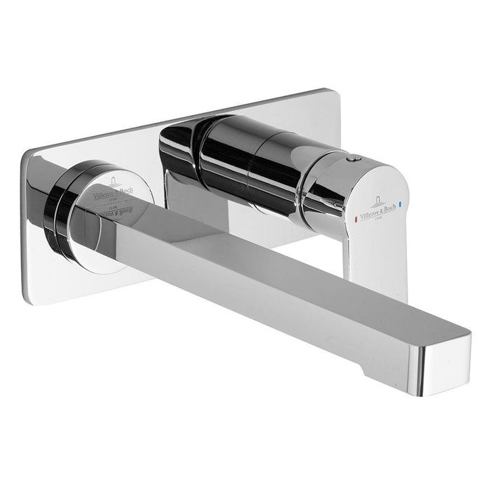 Architectura Wall Mounted Basin Mixer Set (Chrome)
