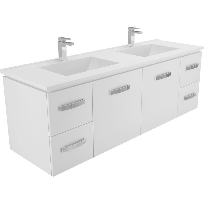Vanessa 1500 Double Bowl Universal Wall-Hung Vanity