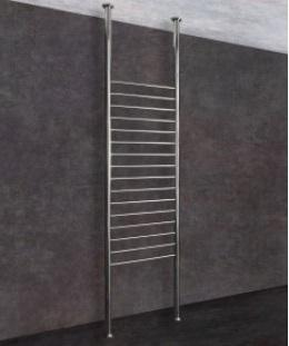 Thermorail Floor to Ceiling Heated Towel Rail Round 16 Bars
